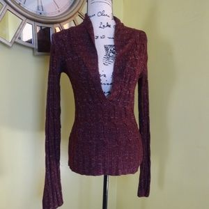 ABSOLUTELY WOMEN SWEATER SIZE S COLOR BURGUNDY